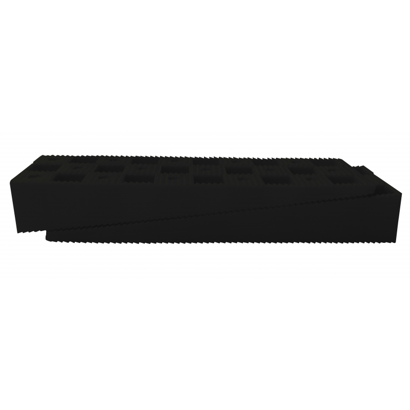 "BOX OF 312 BLACK WEDGES - 6"" x 13/4"" x 1"" (150 x 45 x 25 mm)"