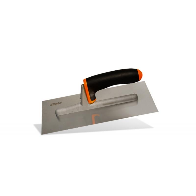 PLASTERING TROWEL - Flat stainless steel blade