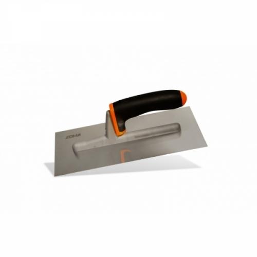 PLASTERING TROWEL - Beveled stainless steel blade
