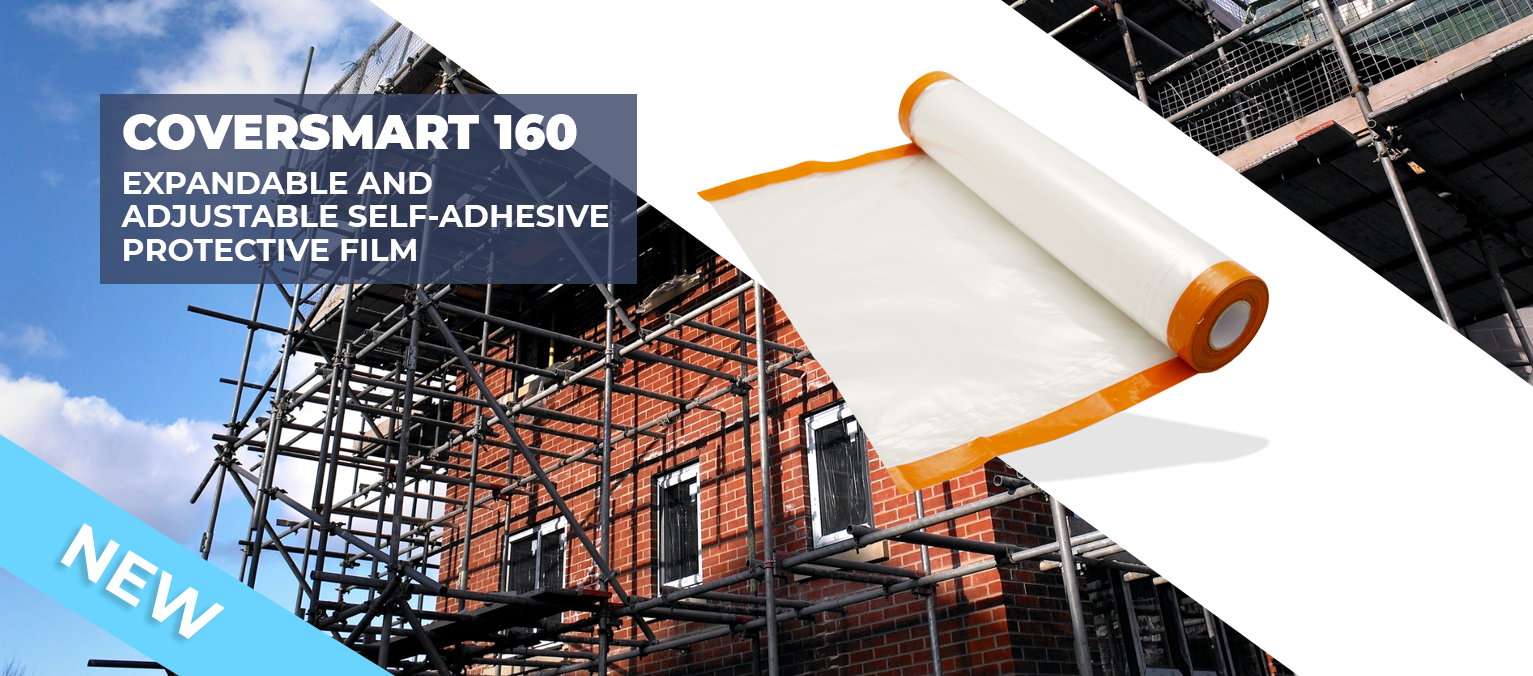 COVERSMART 160 - EXPANDABLE AND ADJUSTABLE SELF-ADHESIVE PROTECTIVE FILM