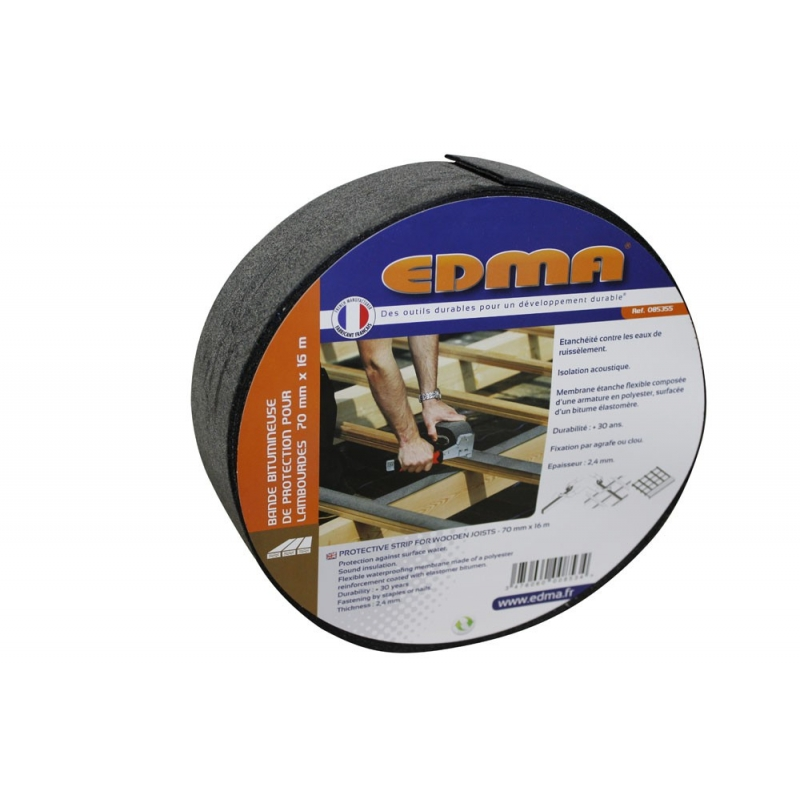 """PROTECTIVE STRIP FOR WOODEN JOISTS - 23/4"""" x 521/2' (70 mm x 16 m)"""