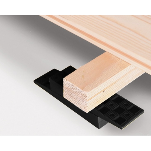 "BOX OF 312 BLACK WEDGES - 6"" x 13/4"" x 1"" (150 x 45 x 25 mm)"