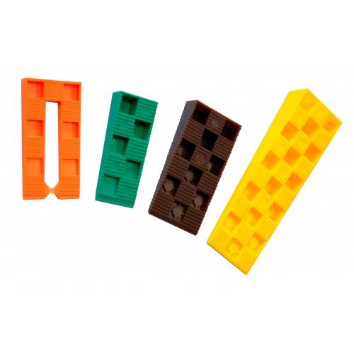 245 PCS WEDGES PROBOX - 60 orange, 70 green, 75 brown, 40 yellow