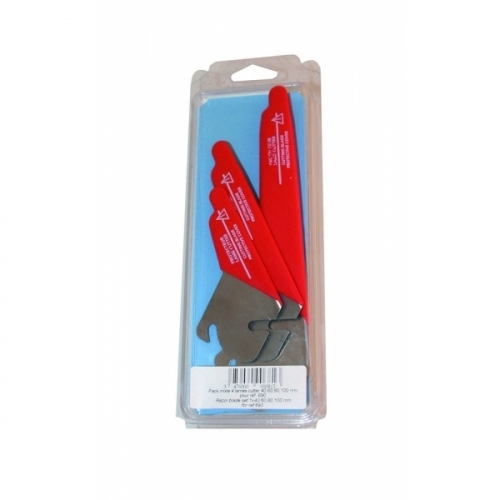 """4 BLADES SET 1.5"""". 2.4"""". 3.1"""" 4"""". (40. 60. 80. 100 MM) FOR CANALCUT"""